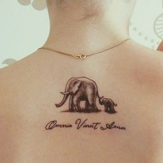 baby elephant back tattoos