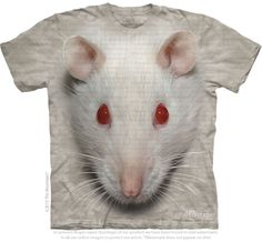 WANT themountain.com - Big Face White Rat T-Shirt, $20.00 (http://shop.themountain.me/big-face-white-rat-t-shirt/)