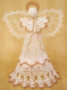 Crochet Angel Tree Topper - CraftStylish