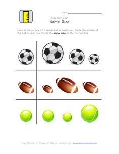 bigger or smaller sports balls classroom pinterest preescolar escolares and deportes. Black Bedroom Furniture Sets. Home Design Ideas