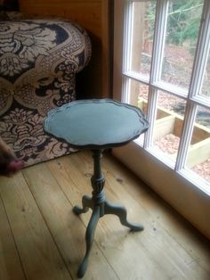 Occasional Table in Duck Egg with dark wax ageing coat