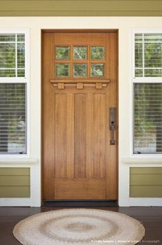 Front Exterior of Craftsman Style Home. This really is my favorite style door.