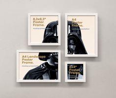 Psd Poster Frame Mockup Vol10 | Psd Mock Up Templates | Pixeden