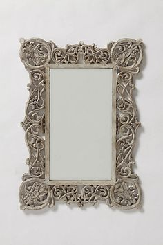 Chantilly Vines Mirror - Anthropologie. Love the handcarved detail