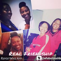 Thankful for my girl Erica! You're trying to make me cry   By @efabuloushb via @RepostWhiz app: Real Friendships are a Blessing. They are not all pretty and coming up roses. Sometimes they are gritty necessary powerful and mind changing. Real friendships are not the ones that grow on trees or in the hashtags of your DM box but they are the relationships in which you grow and those connections last the test of time. I am thankful for all my real friendships because they helped me become who I…