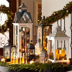 No outlet? No problem. Light up the holidays anywhere you want with Pier 1 lanterns filled with battery-operated LEDs and Glimmer Strings™.