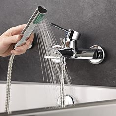 Enhance your modern bathroom with the Acer wall mounted tub shower mixer faucet