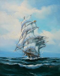 Bedroom Decor For Couples, Tall Ships, Sailing Ships, Nautical, Boat, World, Store, Painting, Beautiful
