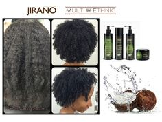 natural hair - curly hair smoothing system. With keratin for stronger hair.