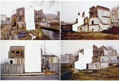 Rachel Whiteread  Parts 1-4 of House Study (Grove Road) 1992  Courtesy the artist and Gagosian, London © Rachel Whiteread  Correction fluid, pencil and water-colour on colour photocopy  29.5x42cm