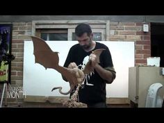 Art Lesson: How to Paint an Allosaurus Model Sculpture Part 2 of 2 - YouTube