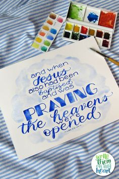 Prints and/or Printables - Watercolor Scripture Art in several sizes, including greeting cards and note cards! Scripture Art, Note Cards, Hand Lettering, Old Things, Greeting Cards, Printables, Watercolor, Prints, Painting