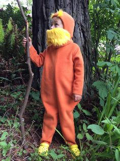 LORAX Halloween Costume Dr. Seuss Kids Costume for boys, girls, toddler, children(Etsy のBooBahBlueより) https://www.etsy.com/jp/listing/94337287/lorax-halloween-costume-dr-seuss-kids