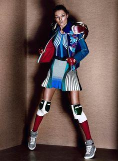 Amazonian Sporty Editorials : Fashion Magazine 'Track & Heeled'