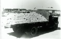 Rukuhia, truck leaving the smelter loaded with ingots made from the surplus WW2 aircraft. rnzaf.proboards.com