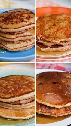 Breakfast Dishes, Healthy Breakfast Recipes, Healthy Snacks, Healthy Recipes, Breakfast Pancakes, Dessert Healthy, Keto Pancakes, Sweet Breakfast, Health Desserts
