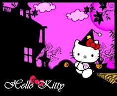 Hello kitty Halloween wallpapers | halloween kitty by night-love-art