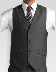 English Laundry Gray Slim Fit (Extra Trim) (Extra Trim) Vested Suit | Men's Wearhouse