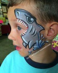 tubarao-fantasia-de-ultima-hora_mais-de-50-ideias-para-pintura-facial-infantil