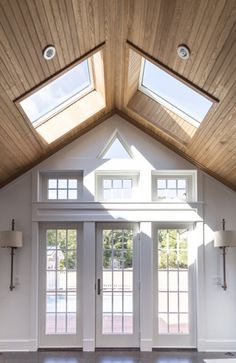 Sponsored by VELUX® Natural light from skylights can transform any room, making the space appear larger and the design elements . House Design, House, Velux Skylights, Roof Window, Remodel, House Inspo, New Homes, Skylight Design, Roof Design