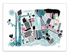 Stockholm poster från Wallmark formstudio hos ConfidentLiving.se
