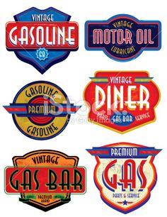auto repair shop illustration retro - Google Search