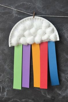 Paper Plate Rainbow Kids Craft | anightowlblog.com