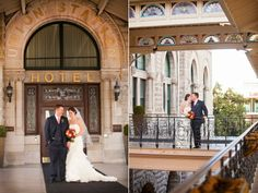 Bride and groom at Historic Union Station Hotel. From Joy + Ryan's wedding, Nashville Tennessee.  Photo by Krista Lee, www.kristaleephotography.com #unionstation #bride #groom #nashville #wedding