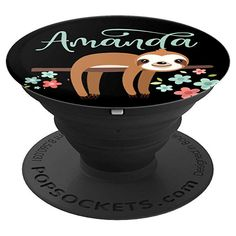 Amanda - Cute Sloth - PopSockets Grip and Stand for Phones and Tablets Amazon Seller, Cute Sloth, Custom Gifts, Personalized Cups, Sloths, Beach Scenes, Custom Tumblers, Things To Buy, Amanda
