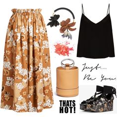 Color of Fashion: Floral Bouquet by erindream on Polyvore featuring мода, Raey, Chloé, Erdem, Simon Miller and Marni