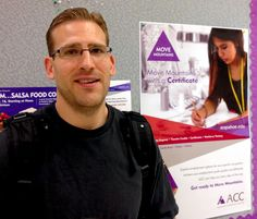 ACC Foundation work-study student John Nicoll (Aug. 27, 2014).