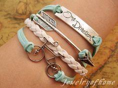 one direction,arrow&bike bracelet-one direction bracelet-arrow bracelet-bike bracelet-leather bracelet,gift bracelet(CH-075) on Etsy, $5.99