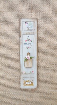 Dollhouse Painting Shabby Chic Chicken by cinderellamoments, $15.00 sold