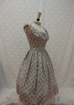 50s Dress // Vintage 1950s Pale Pink and by RobinandWrenVintage, $195.00