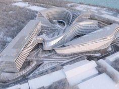 zaha hadid futuristische architektur beko gebäude