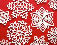 Fold + Cut Kirigami Snowflakes