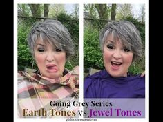 I show you what colors to say away from and what colors to migrate to during or after your transition of going grey. If your hair color has changed, so shoul...