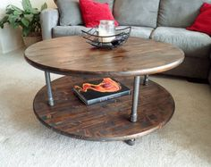 """This listing is for an industrial pipe side table / nightstand. Dimensions of the side table /nightstand are 20"""" x 20"""" x 24"""" tall. Top shelf is 20"""" x 20"""" while the bottom shelf is 13.5"""" x 13.5"""". Unit can be customized to suit your dimensions. Perfect match to our entertainment center: https://www.etsy.com/listing/273180512/industrial-pipe-entertainment-centertv  Stain color shown in picture is Provincial. Also ask about custom sizes, finishes, and paint. * Color stain can be customized, see…"""