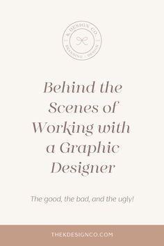 Working with a graphic designer can be a great experience, but what happens when it isn't? Snag my best tips on how to get the most out of your designer. Graphic Design Tips, Best Logo Design, Graphic Design Inspiration, Branding Design, Web Design, Branding Your Business, Creative Logo, Social Media Graphics, Cool Logo