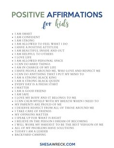 Affirmations for kids will allow them to feel empowered with positive thoughts about themselves, making it harder for them to be affected by any of the negative anyone will throw at them. Positive Affirmations For Kids, Positive Affirmations Quotes, Words Of Affirmation, Morning Affirmations, Positive Quotes, Positive Motivation, Gentle Parenting, Kids And Parenting, Parenting Tips