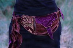 Purple Velvet - Festival Pocket Belt - Utility belt - Burlesque Inspired