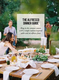 Step-by-step guide to dining alfresco, complete with tablescape and fresh recipe ideas, to host your next outdoor party.