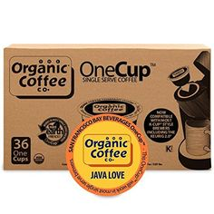 Keurig キューリグ Kカップ オーガニックコーヒー OneCup Java Love 36 Count- Single Serve Coffee 36個