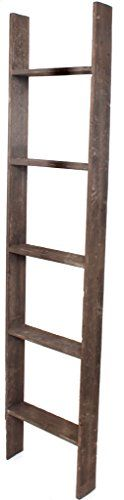 BarnwoodUSA Rustic 5 Foot Decorative Wooden Display Ladder  100 Reclaimed Wood Brown >>> Check out this great product. #RusticHomeDecor