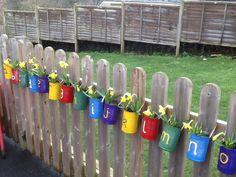 outdoor alphabet EYFS