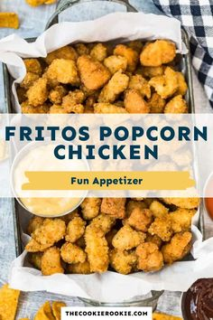 These chicken bites are coated with Fritos and then fried for one super crispy bite. Coated with a seasoned breading and deep fried, they are super crispy and tender and bold in flavor. #appetizer #chickenbites #kidfriendlyrecipe #partyfood Game Day Appetizers, Best Appetizers, Party Dishes, Chicken Bites, Best Chicken Recipes, Game Day Food, How Sweet Eats, Kid Friendly Meals, Healthy Options