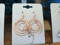 Rose Gold Plated Multi Circle earrings $17.50