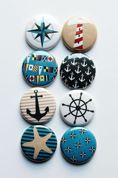 At Sea Flair by aflairforbuttons on Etsy, $6.00