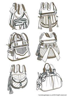 Handbag / Purse design - Sketch Drawing / Hand rendering by Emily O'Rourke at Coroflot.com