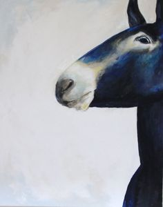 Paintings | Hazel Terry - violet the mule